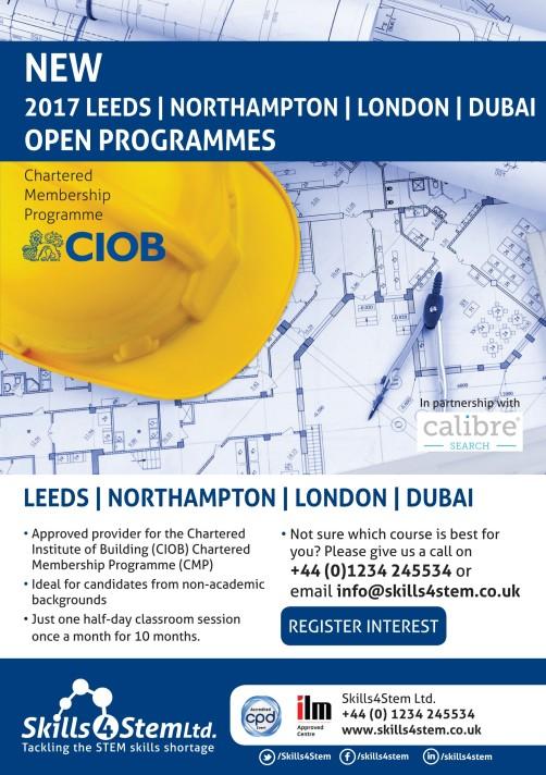 Leeds Northants London Dubai 2017 CMP